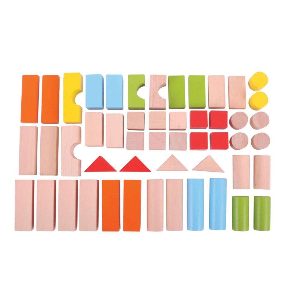 Set de cărămizi colorate din lemn imagine edituradiana.ro