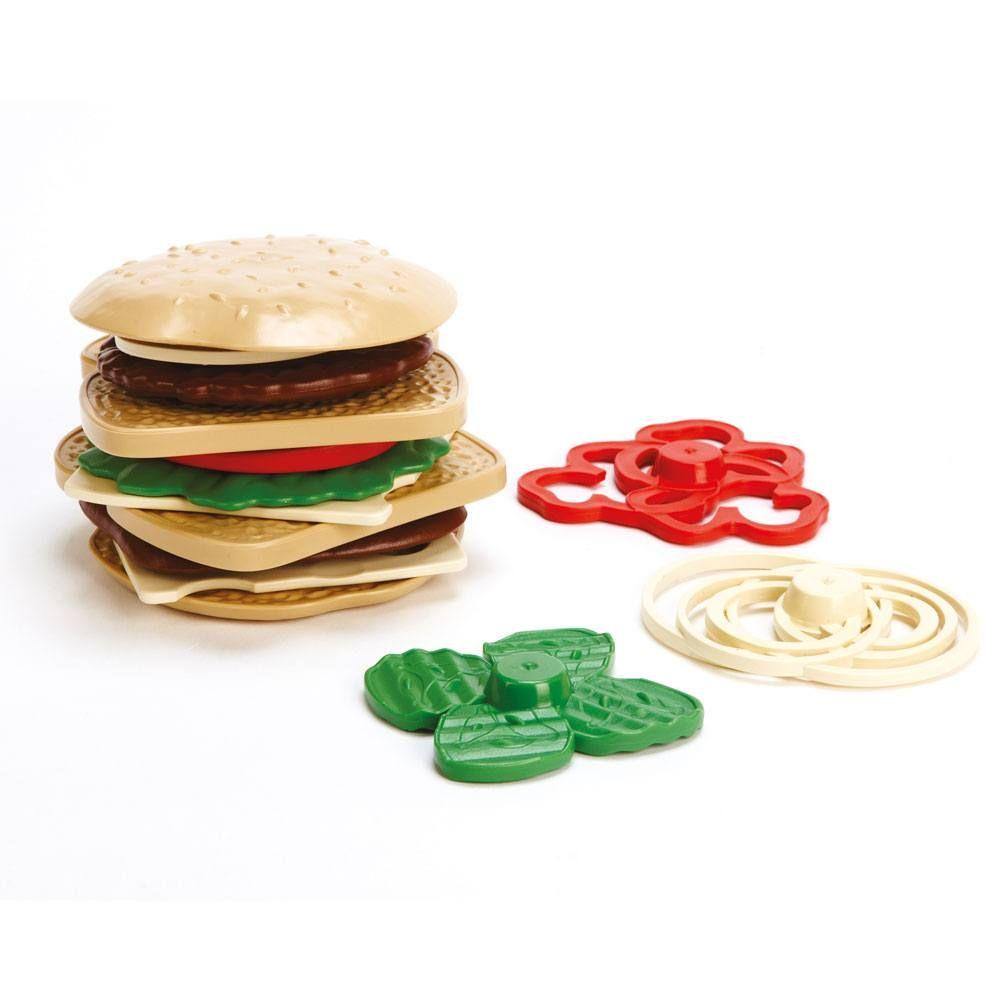 Set de preparare și servire sandvișuri cu 15 accesorii stivuibile din plastic reciclat