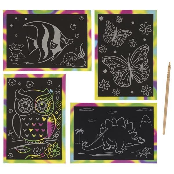 Set desen prin răzuire cu 1 cartonaș și un instrument special pentru răzuit imagine edituradiana.ro