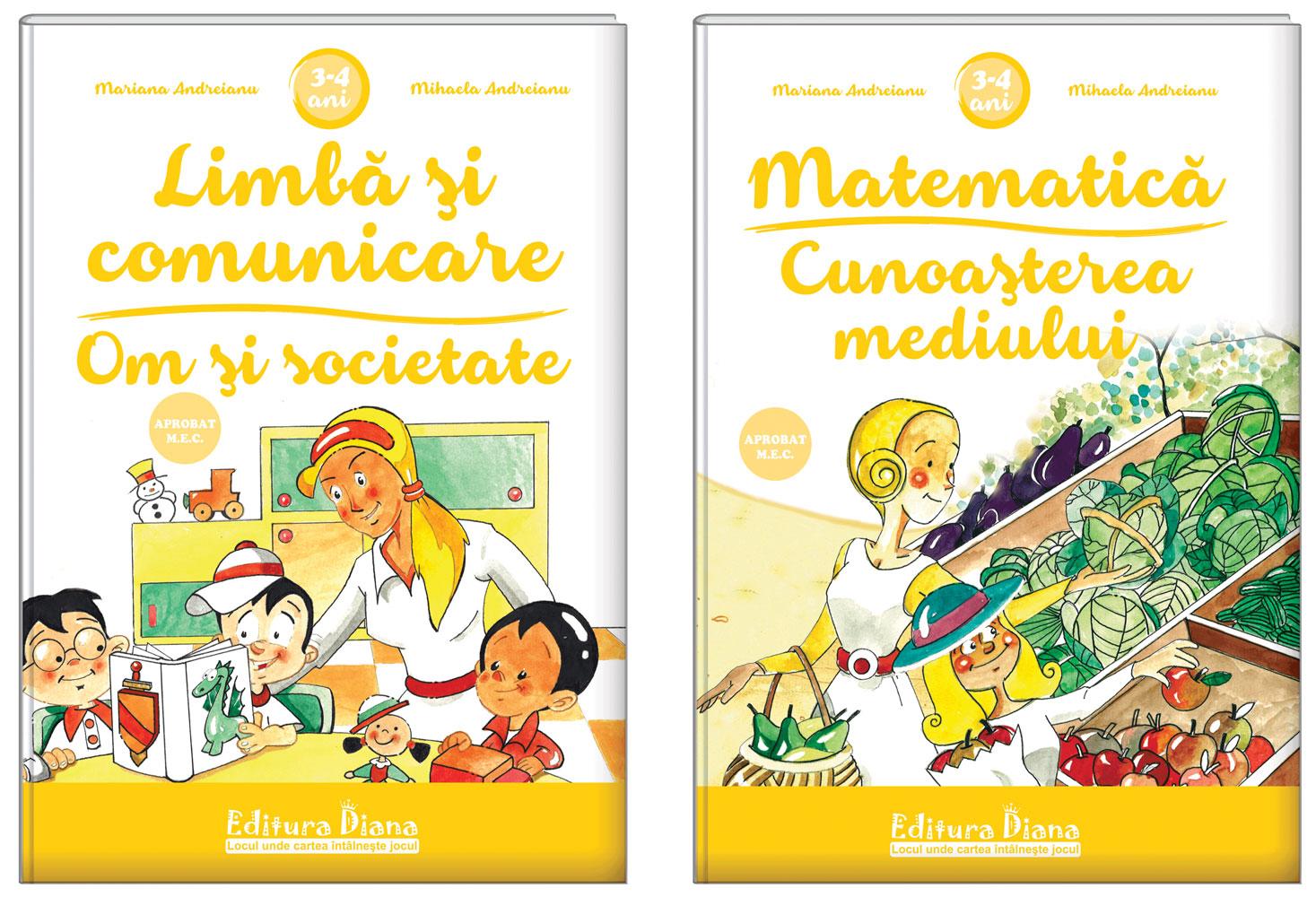 Set două cărți, A4, grupa mică 3-4 ani (Autor M. Andreianu) - Aprobat MEN imagine edituradiana.ro