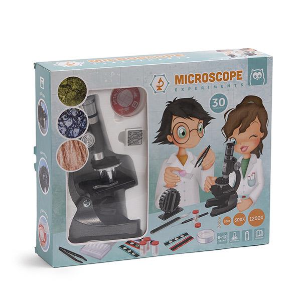 Set educativ - Microscop, 30 de experimente științifice imagine edituradiana.ro