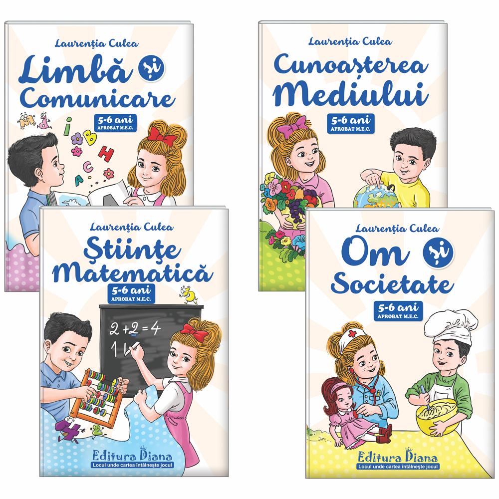 Set patru cărți, A4, grupa mare 5-6 ani (autor L. Culea) - Aprobat MEC imagine edituradiana.ro