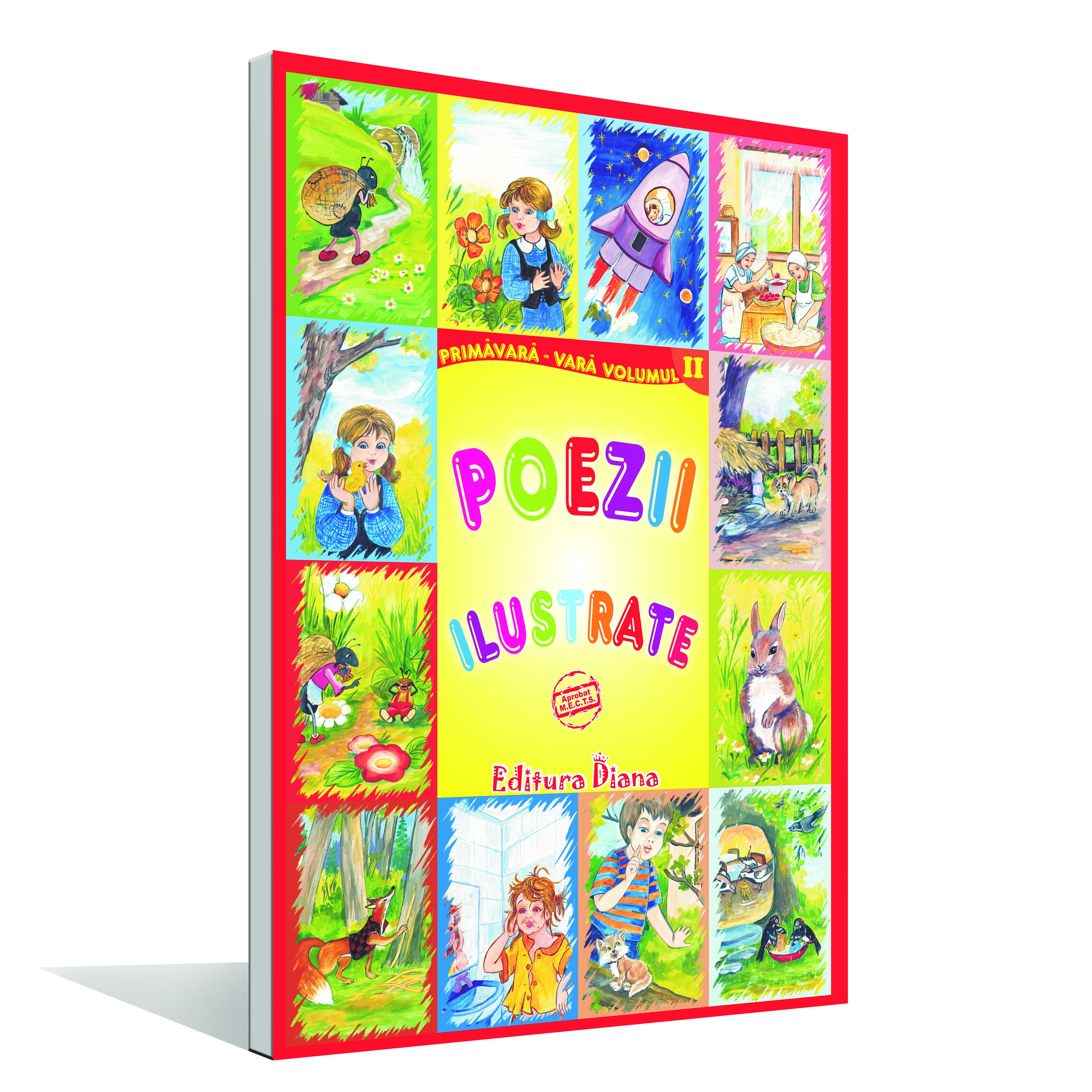 Set planșe poezii ilustrate primăvară - vară A4 Vol. II imagine edituradiana.ro