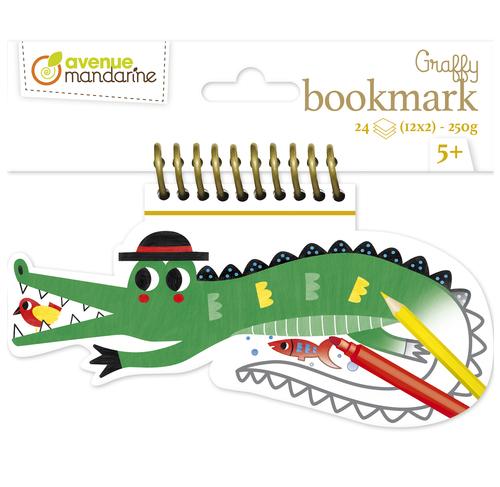 Set 24 de semne de carte pentru colorat - Crocodil imagine edituradiana.ro