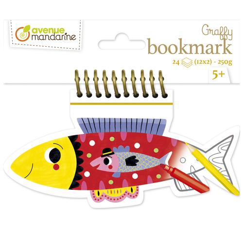 Set 24 semne de carte de colorat - Pește imagine edituradiana.ro