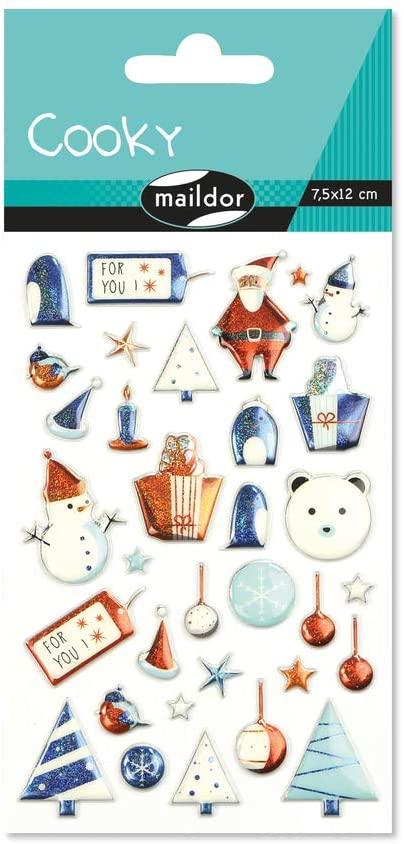 Set 33 de stickere 3D - Crăciun imagine edituradiana.ro