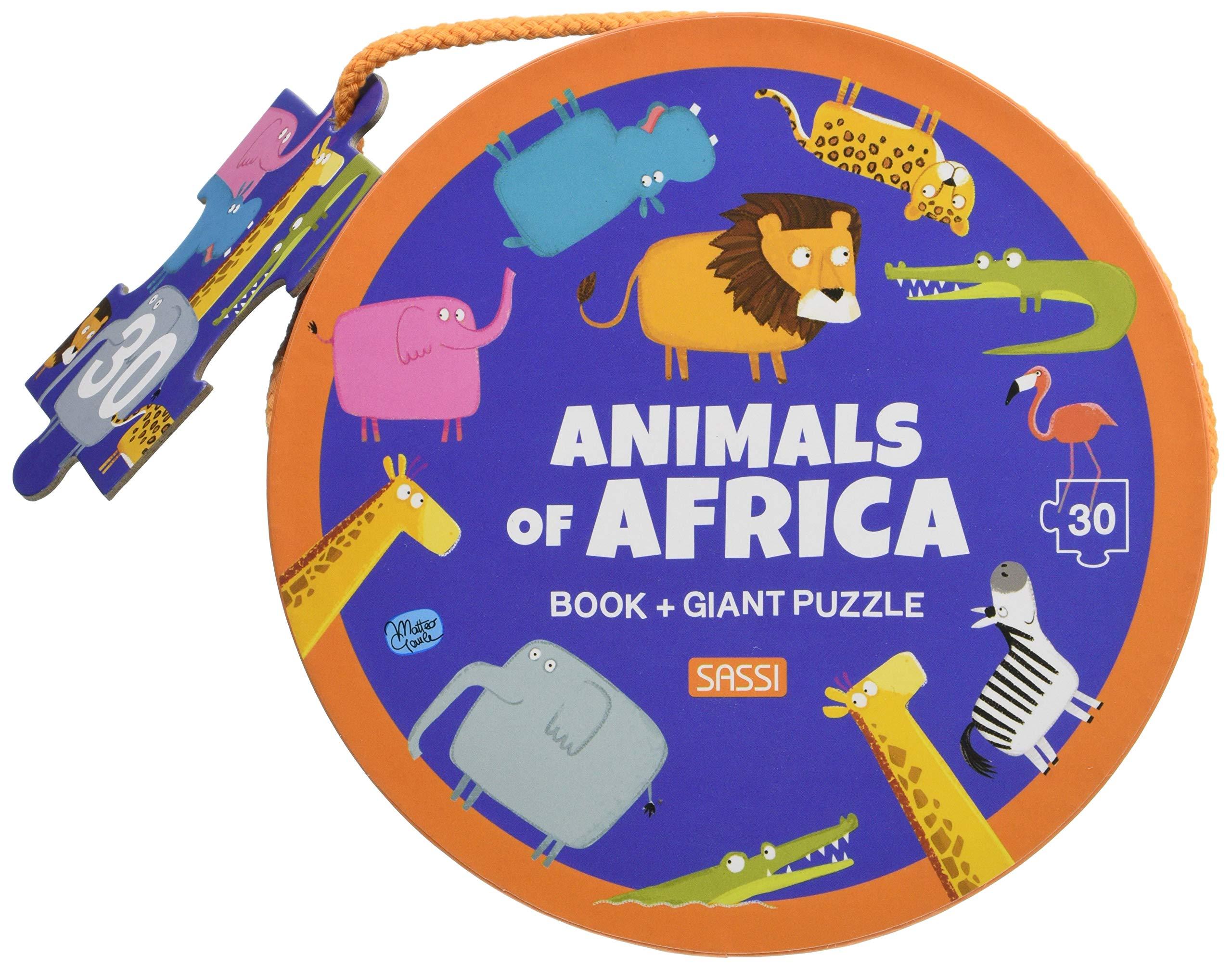 Set carte + puzzle uriaș cu 30 de piese - Animale din Africa imagine edituradiana.ro
