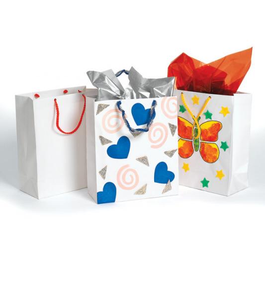 Punguță albă de cadou pentru decorare imagine edituradiana.ro