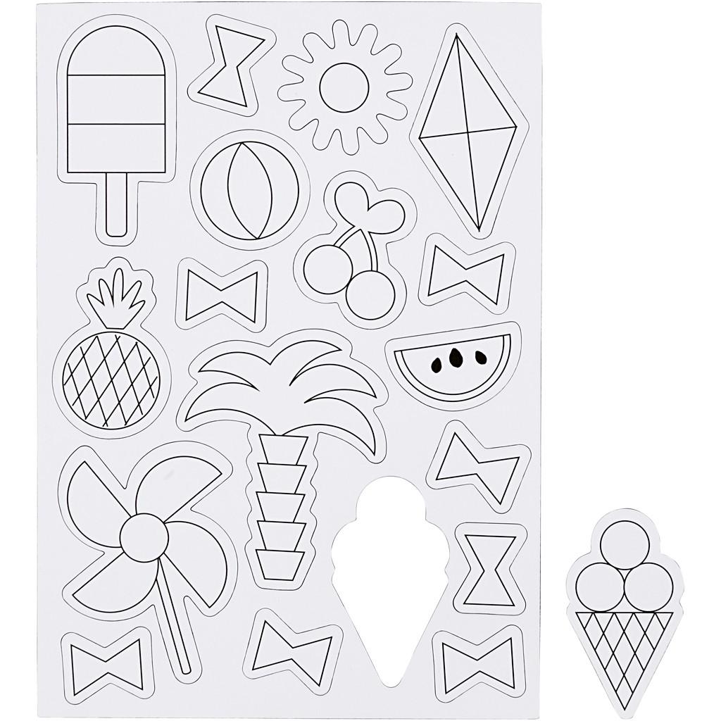 Set de 18 magneți pretăiați pentru decorat - Accesorii de vară