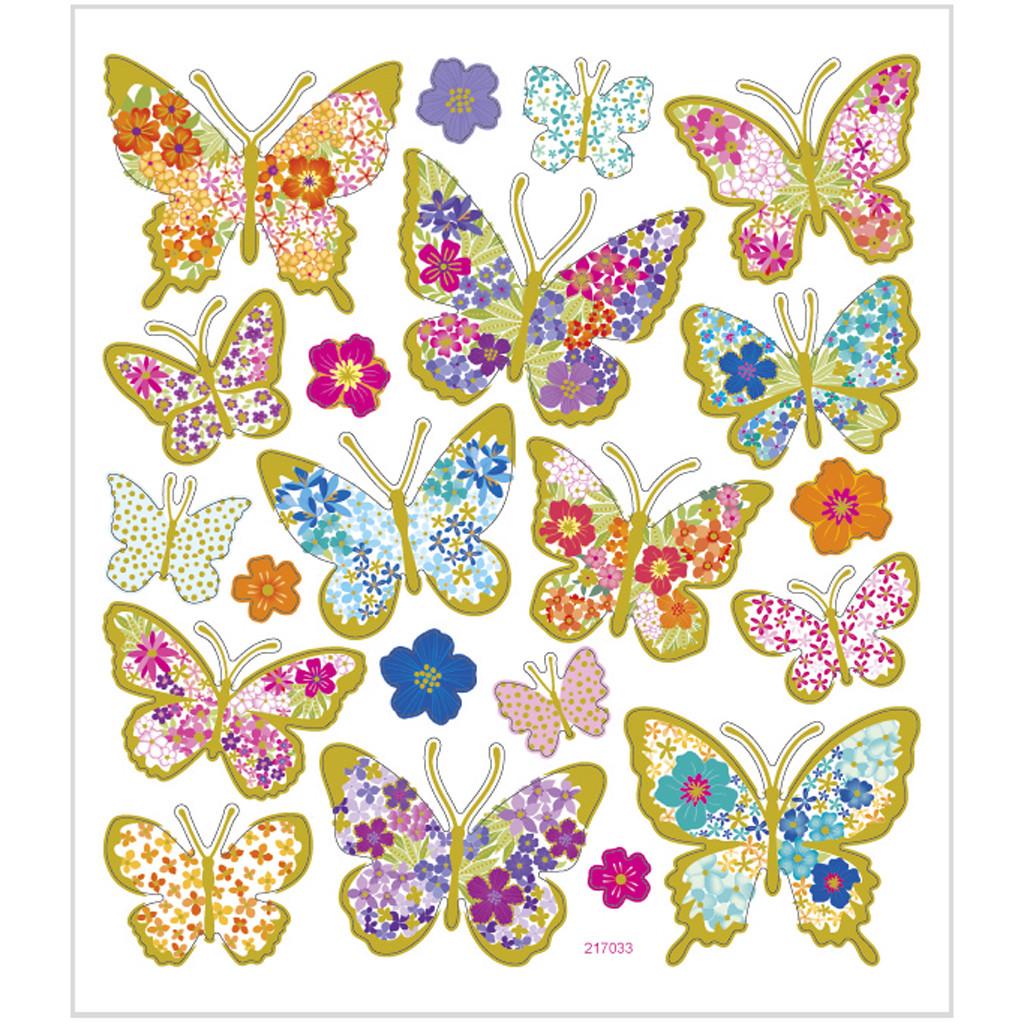Set de 21 de stickere - Fluturi și flori imagine edituradiana.ro
