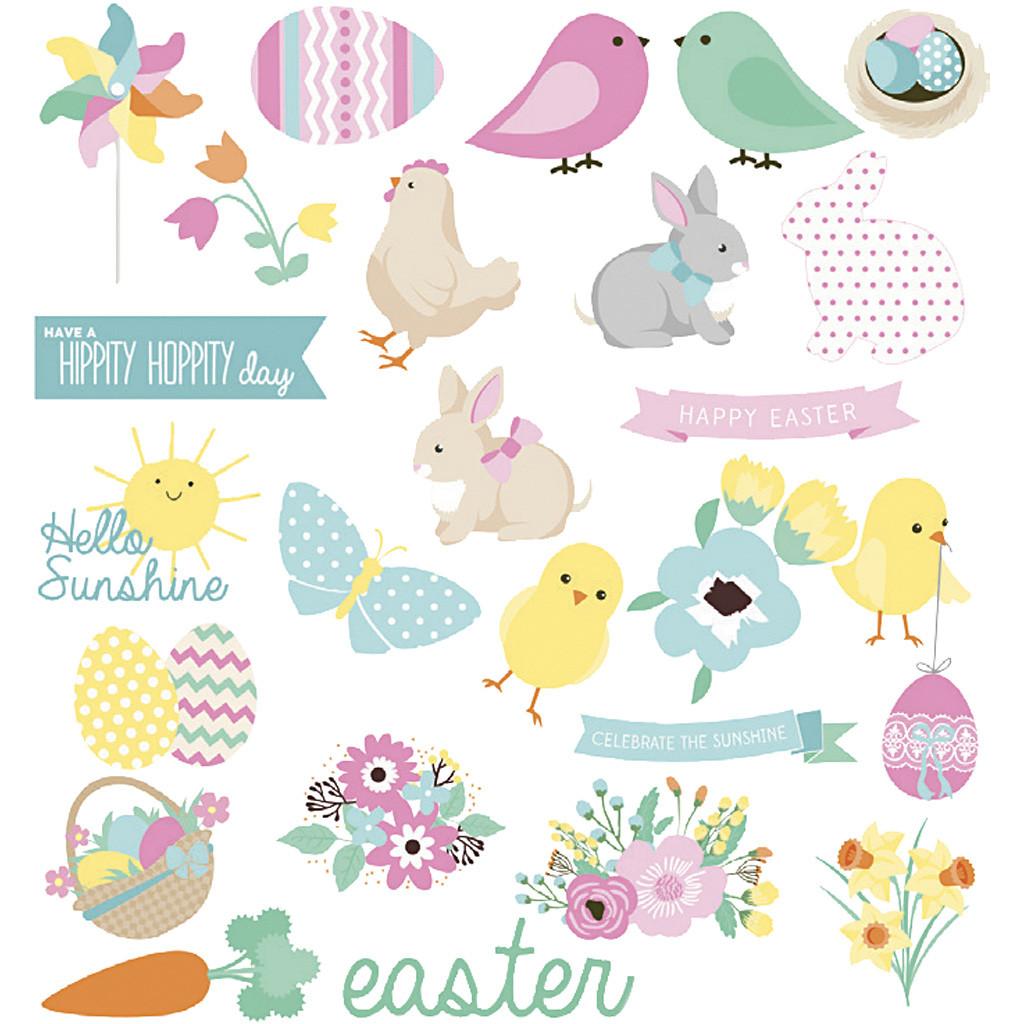 Set de 24 de stickere - De Paște imagine edituradiana.ro