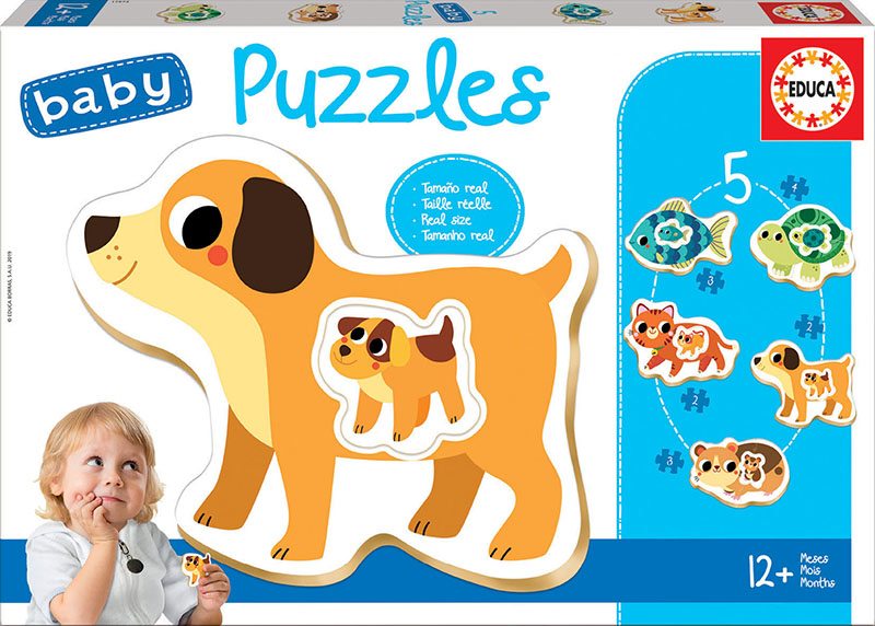Set de 5 puzzle-uri progresive - Animale de companie (2-4 piese) imagine edituradiana.ro