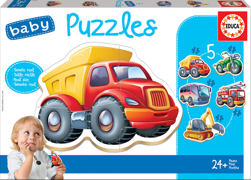 Set de 5 puzzle-uri progresive - Vehicule (2-5 piese) imagine edituradiana.ro