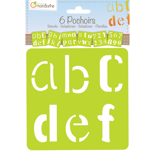 Set de 6 șabloane - Alfabet creativ imagine edituradiana.ro