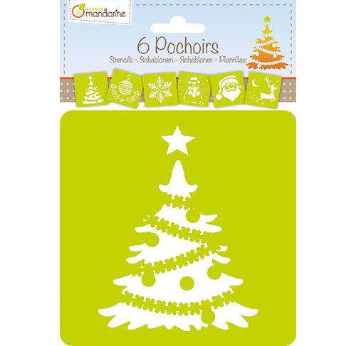 Set de 6 șabloane - Crăciun imagine edituradiana.ro