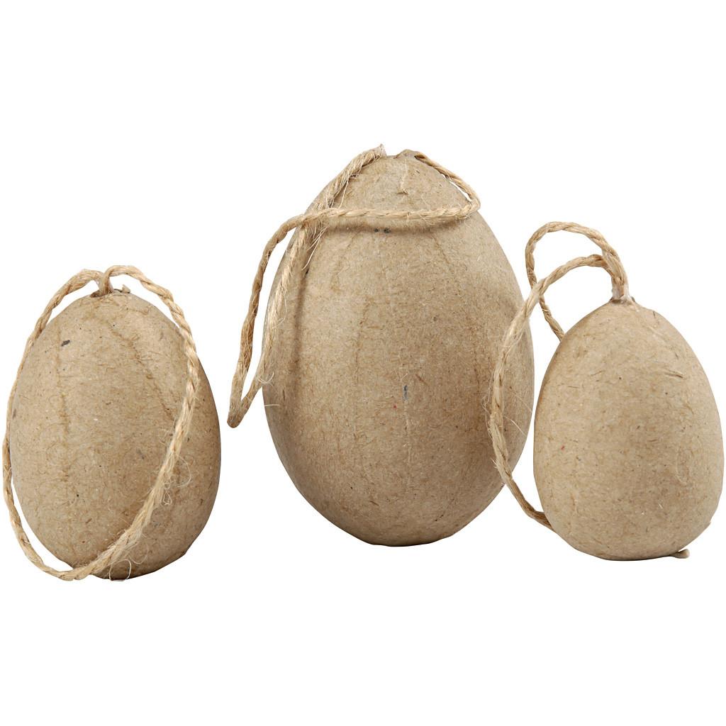Set de 6 ouă din hârtie manuală pentru decorat imagine edituradiana.ro