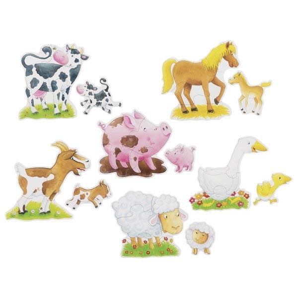 Set de 6 puzzle-uri- Animale și pui imagine edituradiana.ro