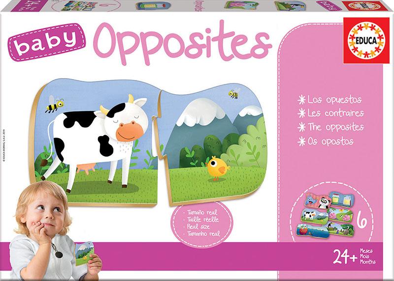 Set de 6 puzzle-uri din câte 2 piese - Opoziții imagine edituradiana.ro