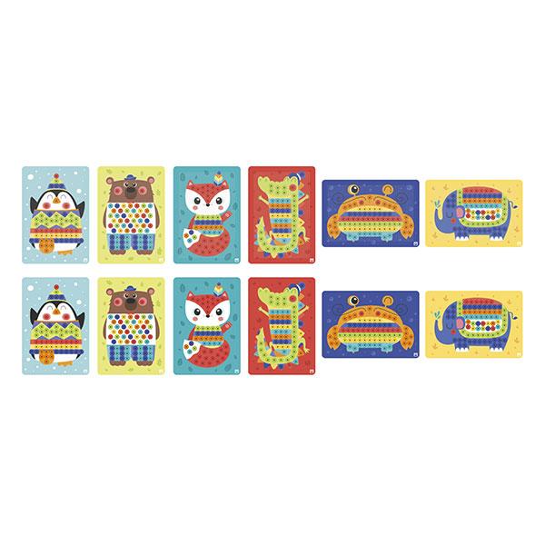 Set de joacă cu 160 de piese și 6 modele - Mozaicul animalelor imagine edituradiana.ro