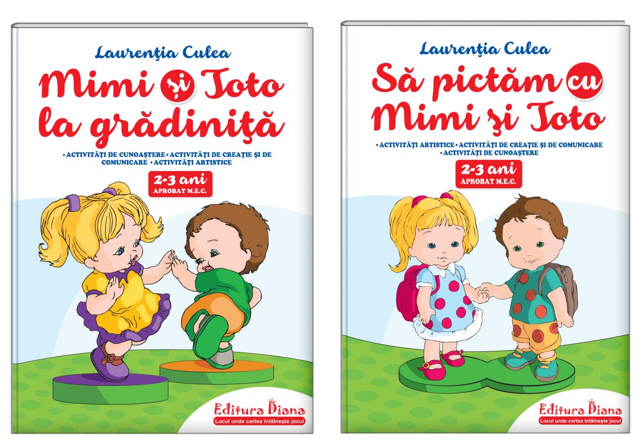 Set două cărți, A4, antepreșcolari 2-3 ani (autor L. Culea) - Aprobat MEC imagine edituradiana.ro