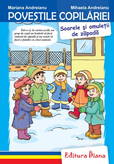 Soarele și omuleții de zăpadă - Poveștile copilăriei - Tip Acordeon imagine edituradiana.ro