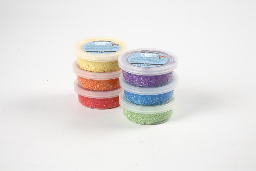 Spumă de modelat în culori asortate – 6 buc imagine edituradiana.ro