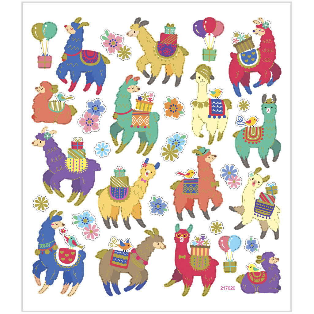Stickere - Alpaca și floricele imagine edituradiana.ro