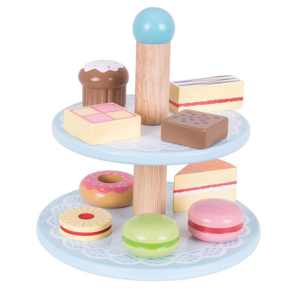Suport pentru prăjituri etajat cu 9 prăjituri din lemn imagine edituradiana.ro