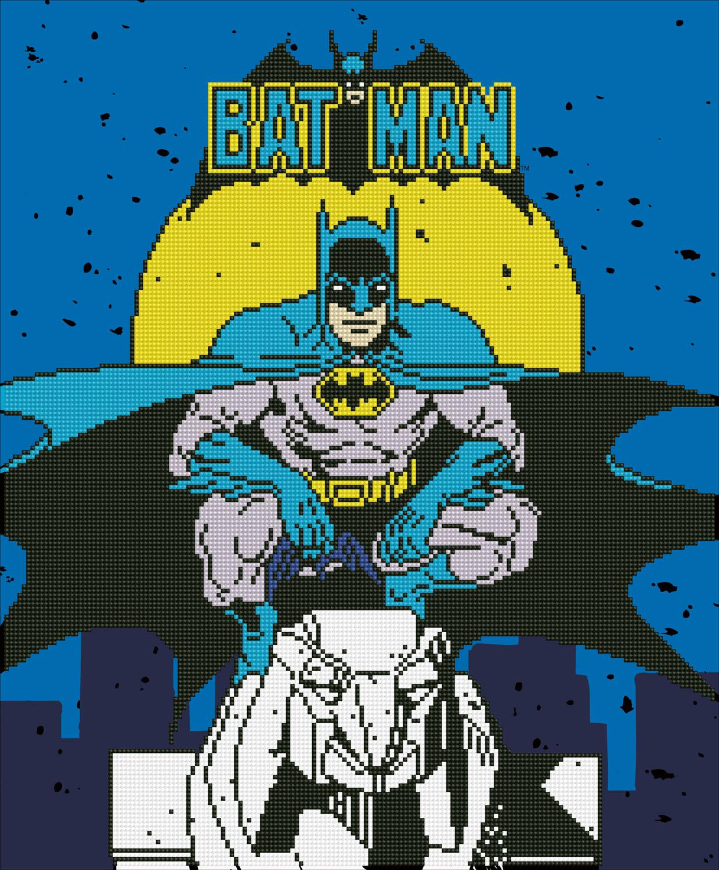 Tablou cu diamante - Batman, 47 x 57 cm imagine edituradiana.ro