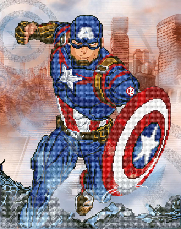 Tablou cu diamante - Captain America, 42 x 53 cm imagine edituradiana.ro