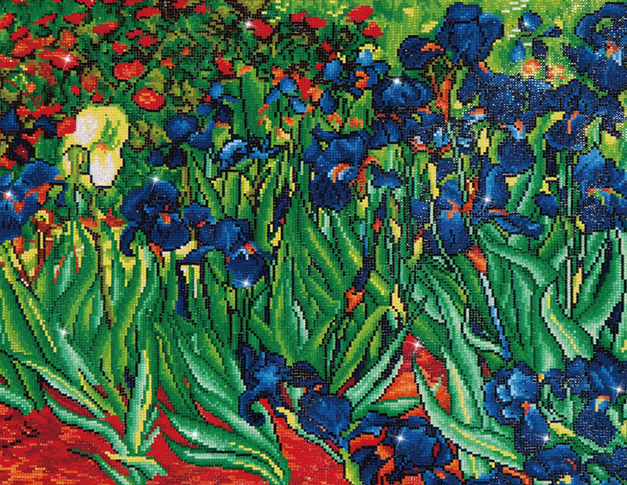 Tablou cu diamante - Iriși (Van Gogh), 56 x 71 cm imagine edituradiana.ro