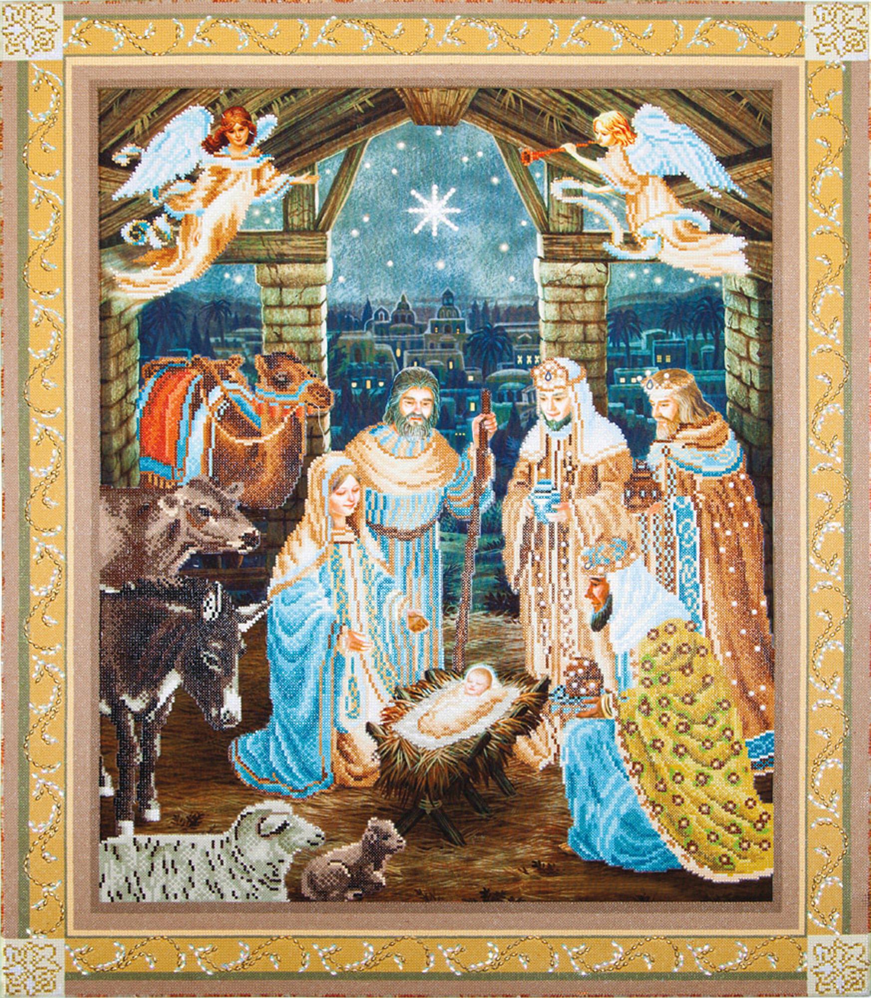 Tablou cu diamante - Nașterea lui Iisus, 100 x 85 cm imagine edituradiana.ro