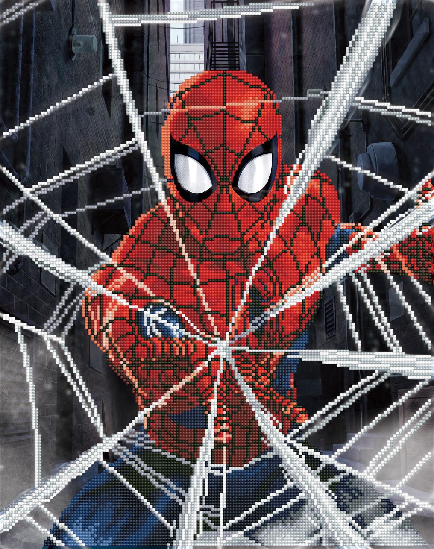 Tablou cu diamante - Spider-Man, 42 x 53 cm imagine edituradiana.ro