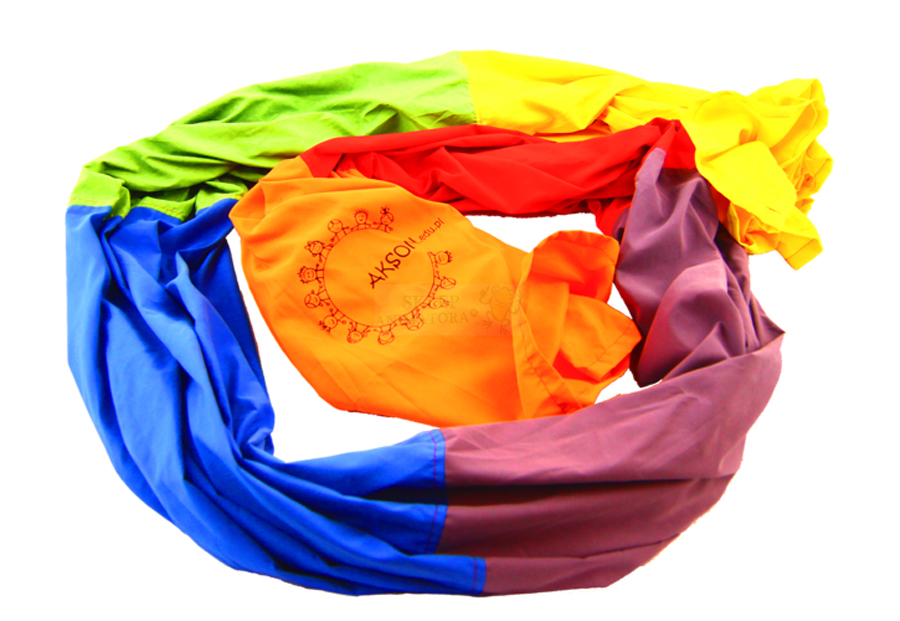 Tunel de joacă textil în culorile curcubeului, 4,2 m imagine edituradiana.ro