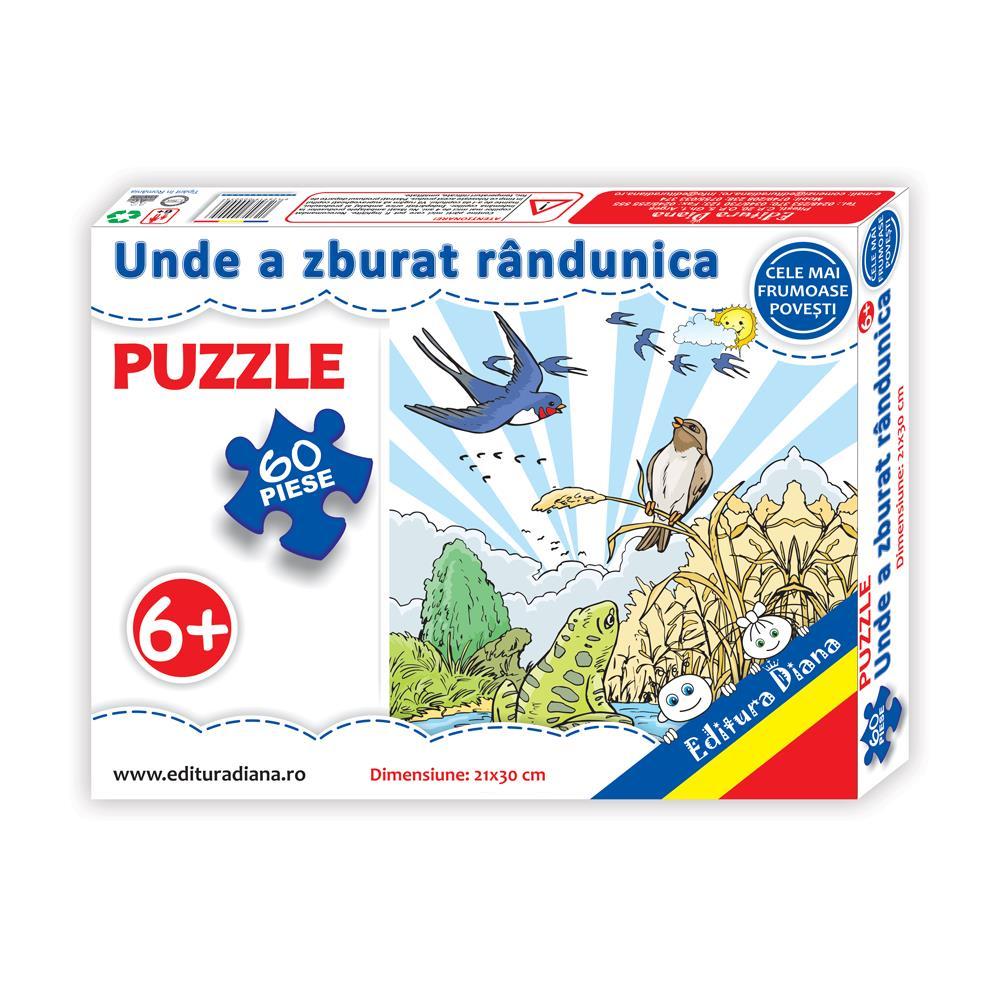 Unde a zburat rândunica - Puzzle 60 piese imagine edituradiana.ro