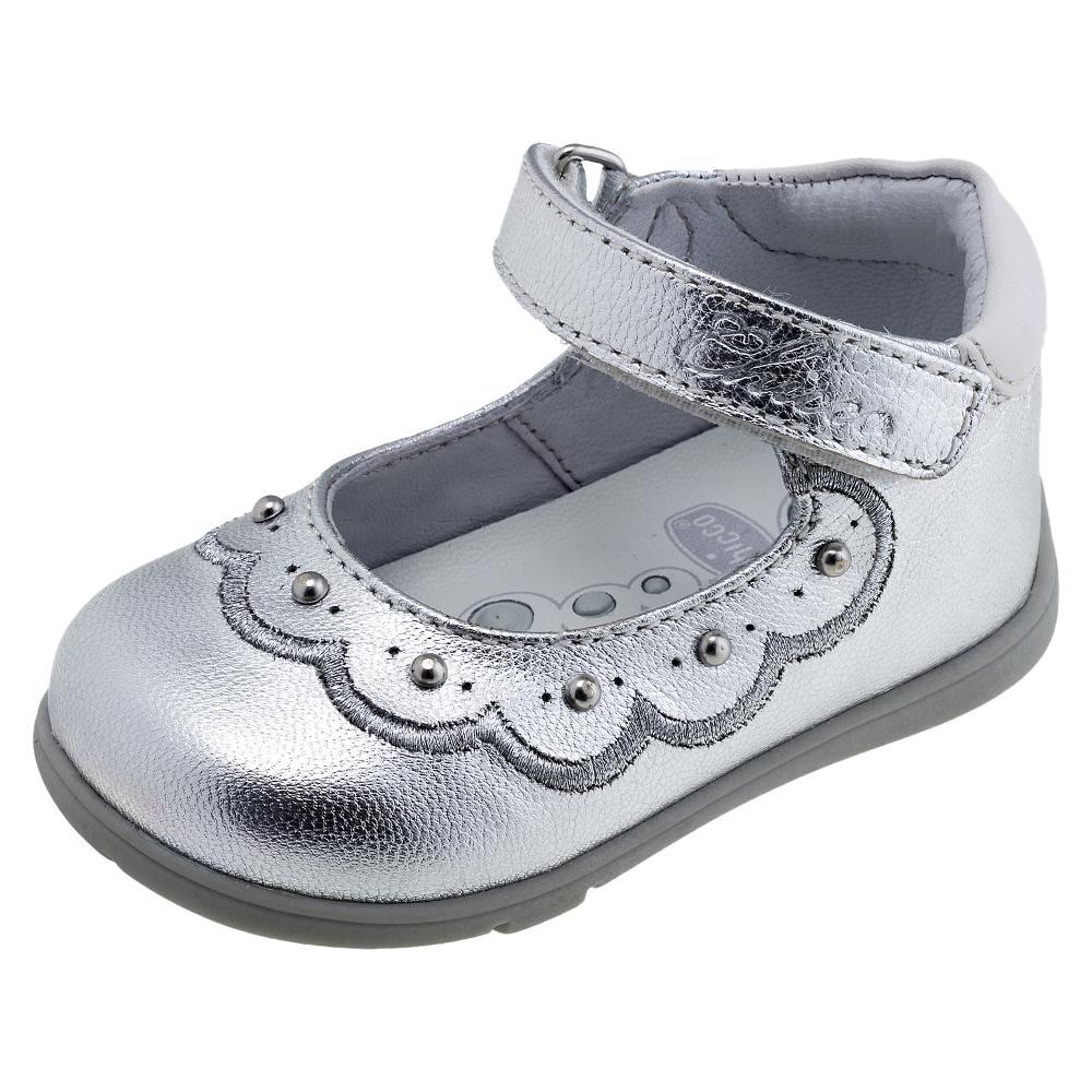 Balerini Chicco 100% piele naturala argintiu