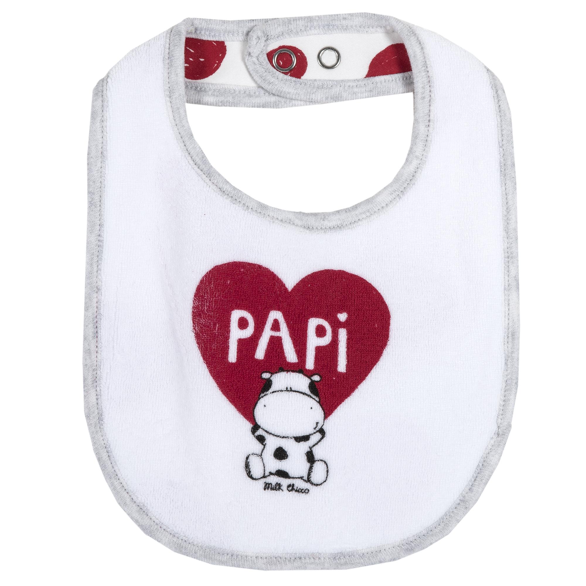 "Baveta copii Chicco, alb, ""PAPI"", 32716 din categoria Bavete"