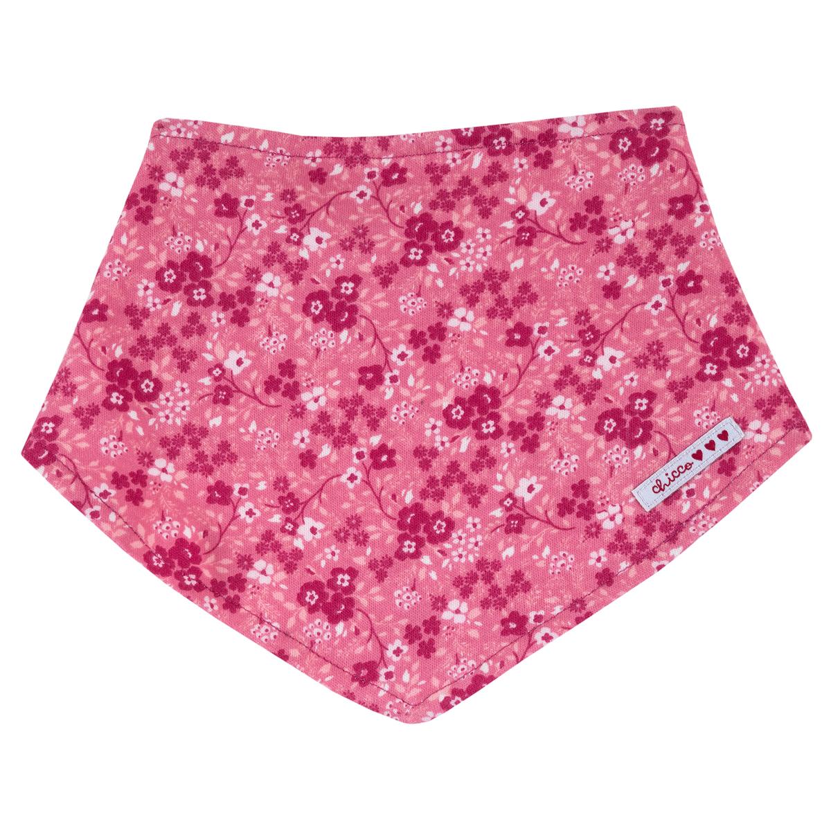 Baveta copii Chicco, roz cu imprimeu floral, 32725