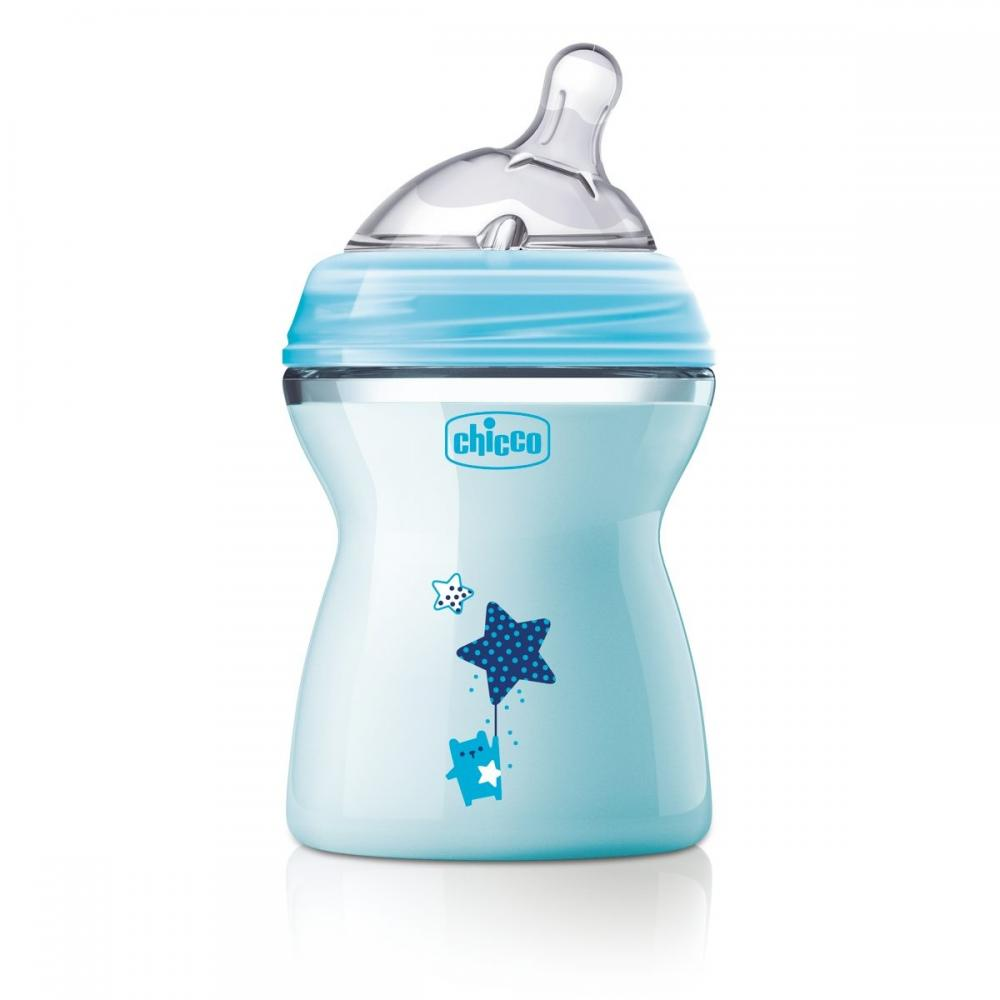 Biberon Chicco Natural Feeling bleu 250ml t.s. 2luni+ 0%BPA