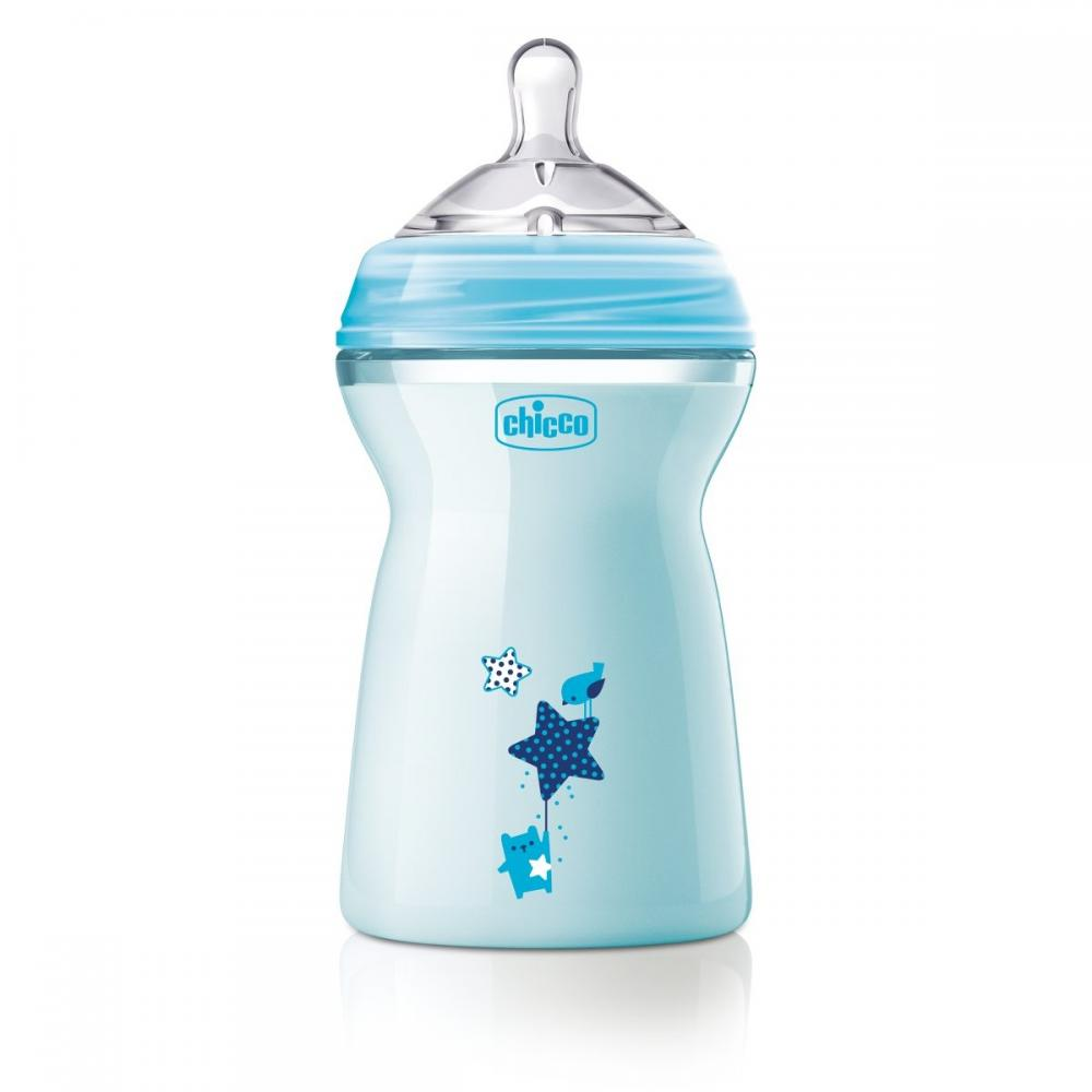 Biberon Chicco Natural Feeling bleu 330ml t.s. 6luni+ 0%BPA