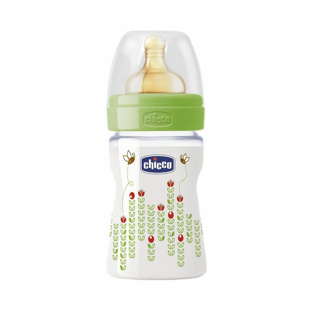 Biberon Chicco Well Being PP, unisex, 150ml, T.c., flux normal, 0+, 0%BPA