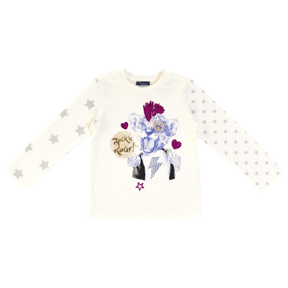 Bluza copii Chicco, alb cu model