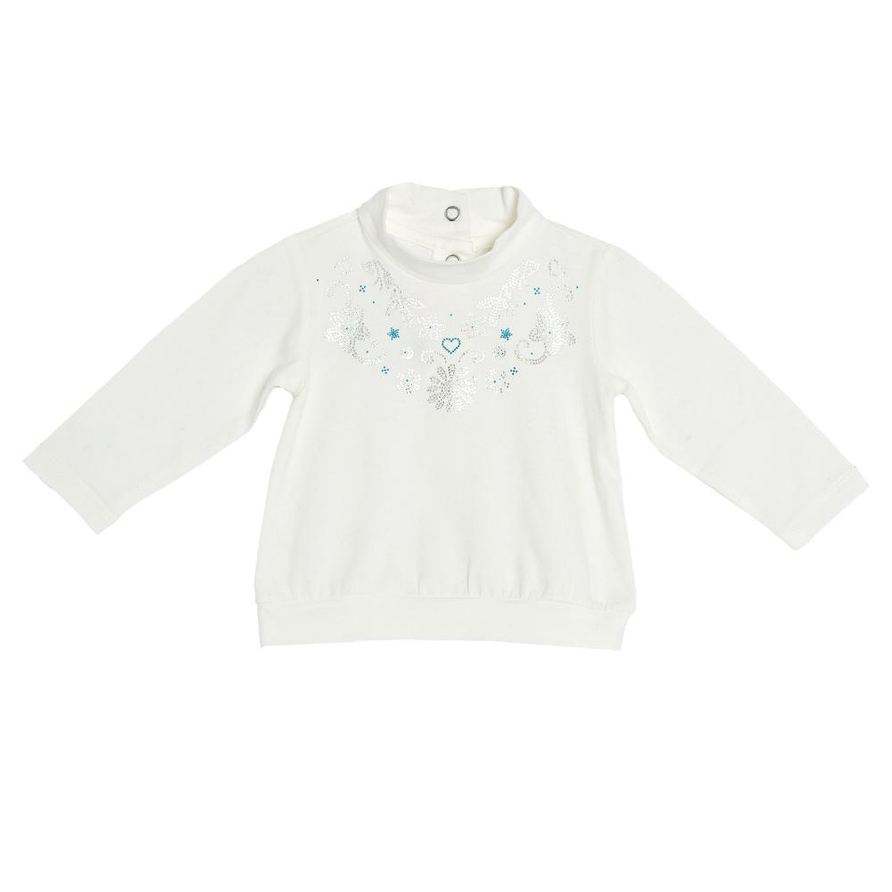 Bluza maneca lunga Chicco, alb