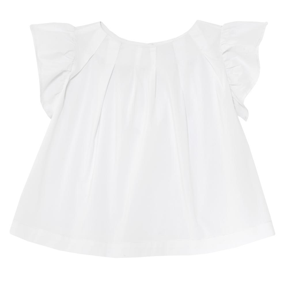 Bluzita copii Chicco alba cu maneca scurta fetite 110