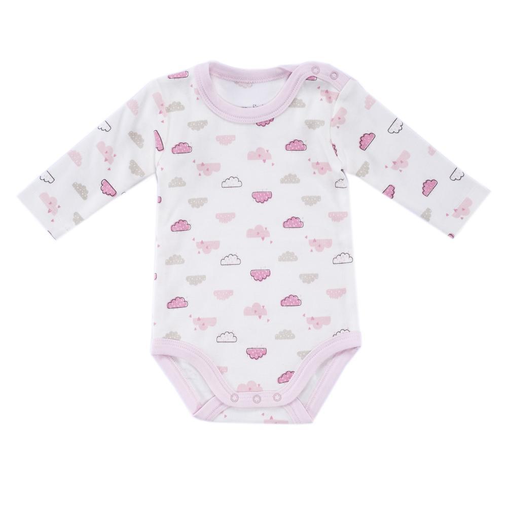 Body bebelusi Chicco, maneca lunga, roz cu model