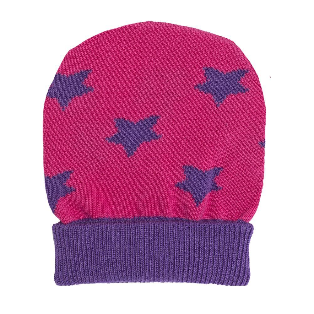 Caciula tricotata Chicco, roz cu albastru, amestec bumbac, 42982