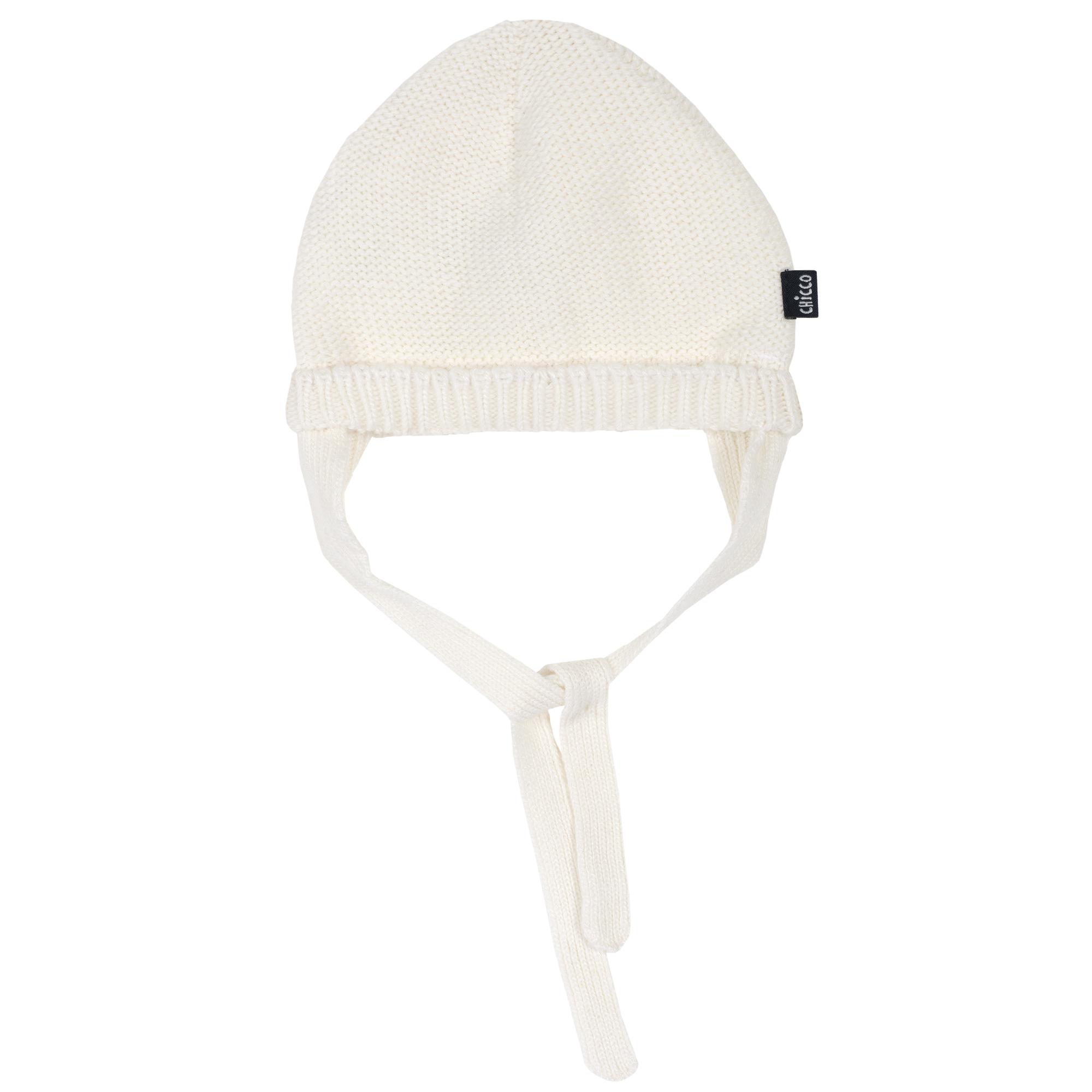Caciula copii Chicco, tricotata, alb, 04542 din categoria Caciuli, Sepci