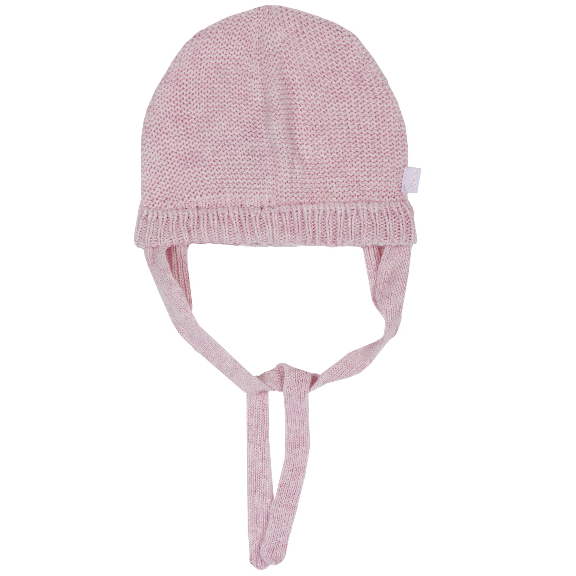 Caciula copii Chicco, tricotata, corai, 04542