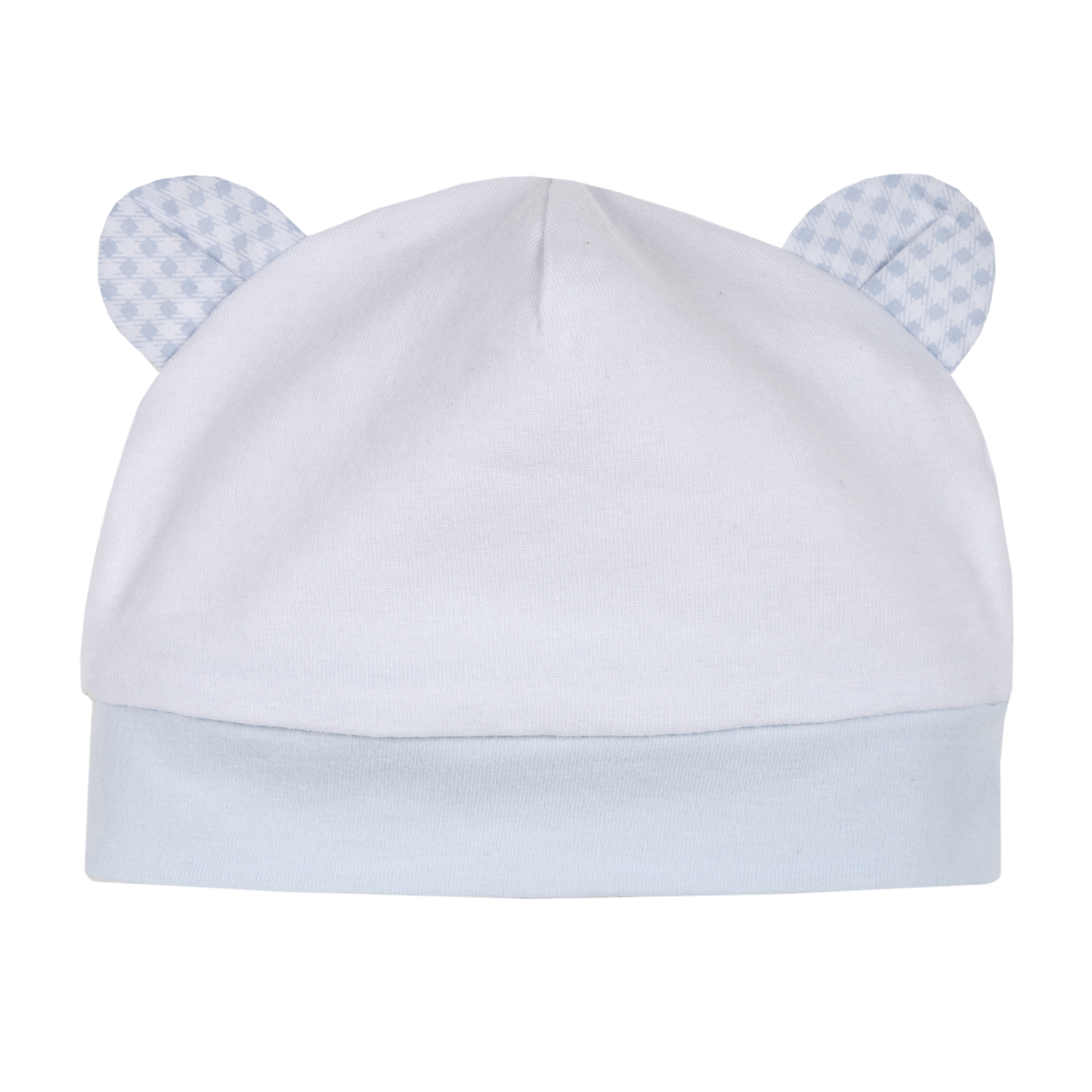 Caciulita bebe, alb cu bleu, 04384 din categoria Caciuli, Sepci