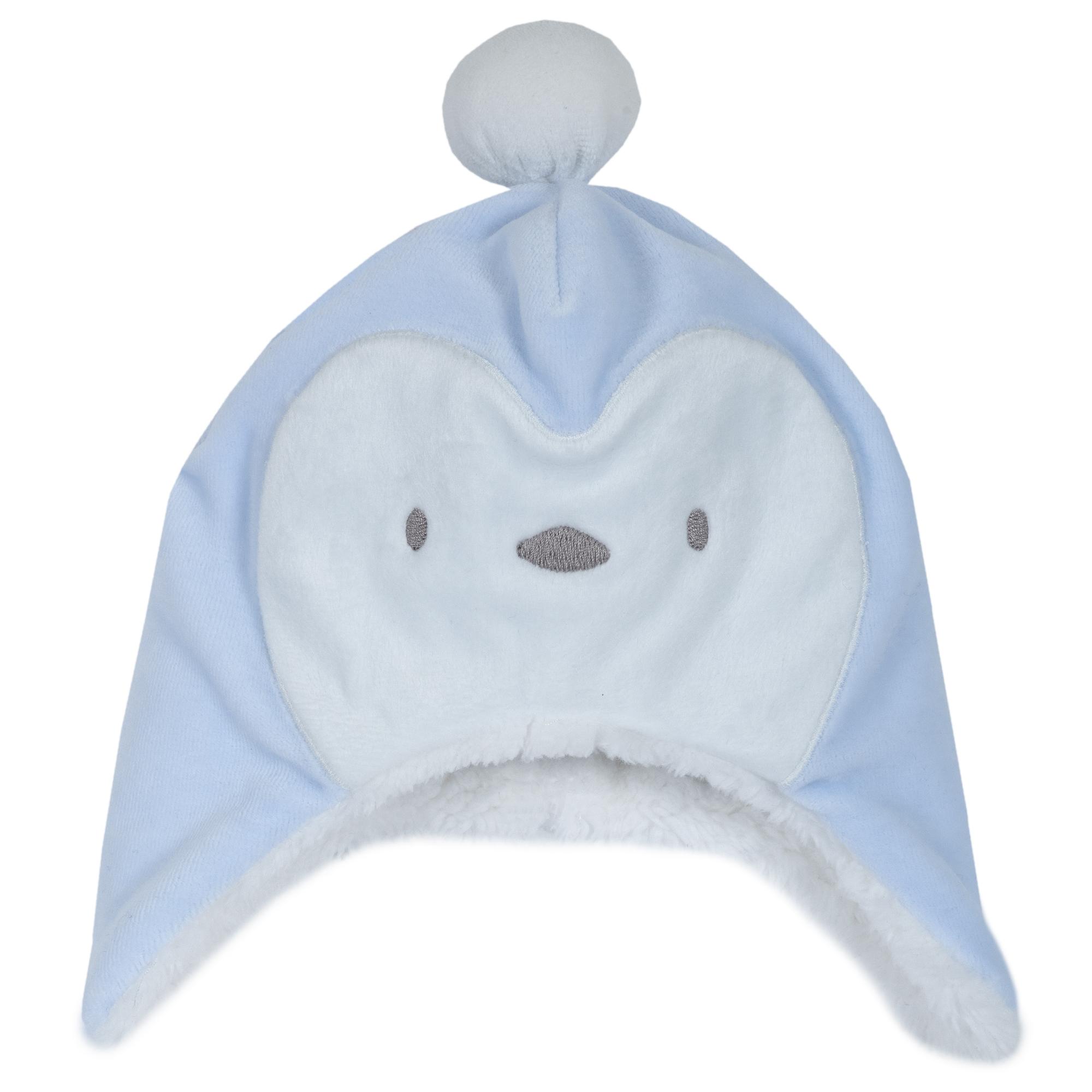 Caciula copii imblanita Chicco, cu urechi, albastru, 04514
